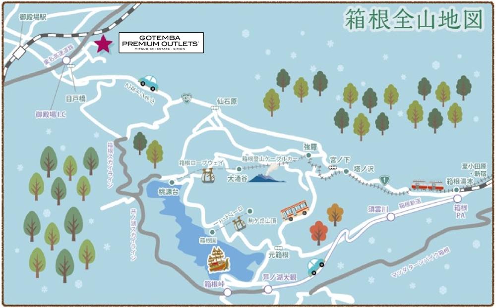 箱根エリアマップ