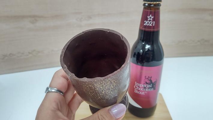 サンクトガーレンチョコレート製グラスセットチョコビール