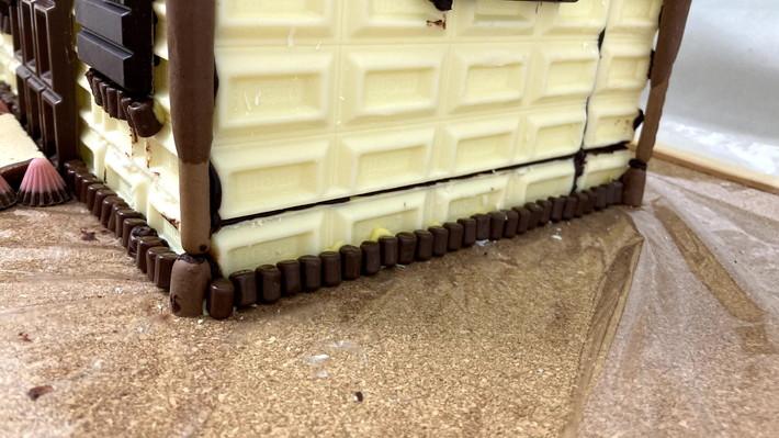 チョコベビーでおうちを囲う