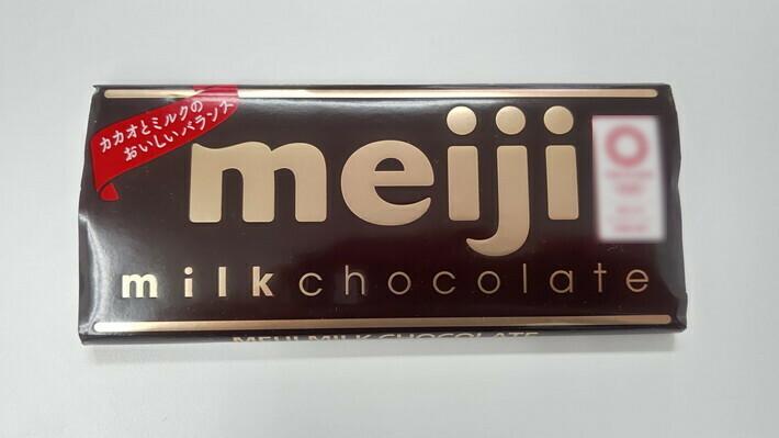 明治 ミルクチョコレート:1枚