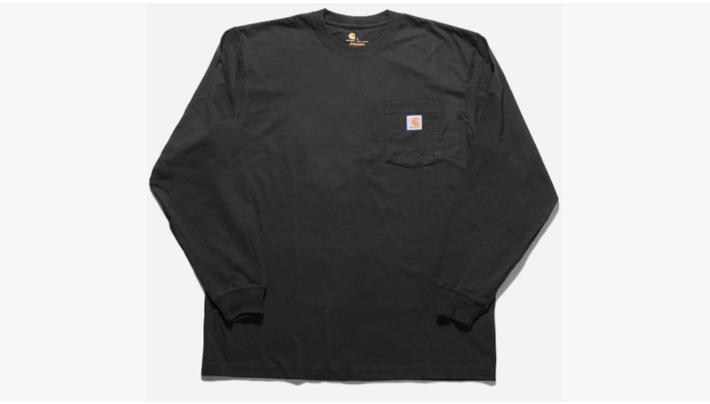 カーハートK126/ワークウェアポケットロングスリーブロゴTシャツ
