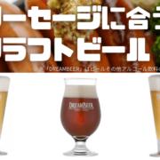 ソーセージに合うクラフトビール第2弾!2021年JGBA銀賞受賞のものや本場チェコのようなビールなどの3種紹介!